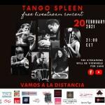Tango Spleen Live Facebook poster